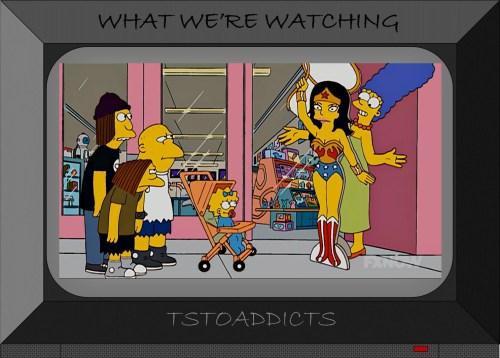 Marge Simpson Wonder Woman Standee