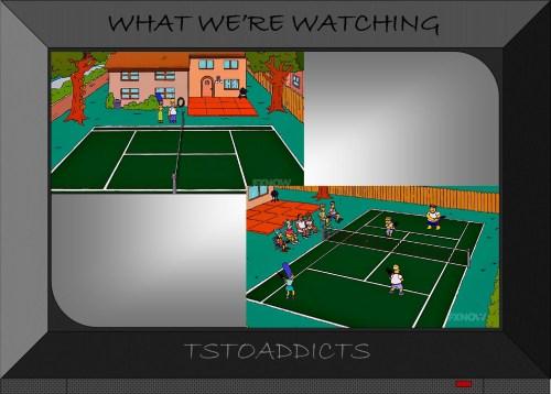 Tennis Court Simpsons