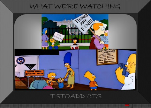 White House Bowling Alley Simpsons