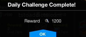 Daily Challenge Reward