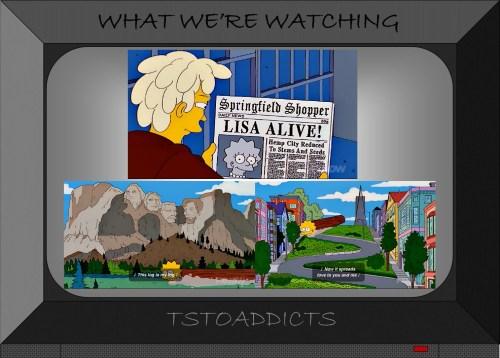 Lisa Log Jesse Grass Simpsons