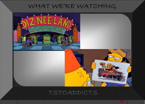 Diz-Nee-Land Rat FInk Otto Bus Simpsons