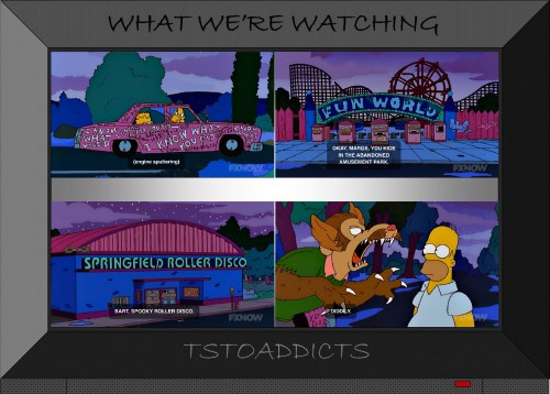 I Know What You Did Car Fun World Spooky Roller Disco Werewolf Flanders Simpsons