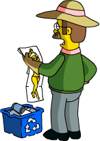 Ned Flanders Collect Garbage 1