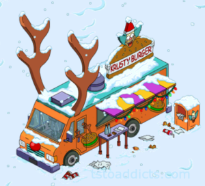 Reindeer Burger Truck in snow
