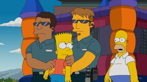 THE SIMPSONS: Lisa sets out to restore the tarnished reputation of SpringfieldÕs first female inventor. To find her invention, she scours an abandoned asylum and a restaurant that caters to men. Bart joins Lisa at the asylum, stealing one of the homicidal patientÕs notebooks, and bragging to the boys at school that he wrote the entries himself. This revelation causes Homer and Marge to believe he is a sociopath, which Bart decides to use to his advantage until things go too far in the ÒPaths of GloryÓ episode of THE SIMPSONS airing Sunday, Dec. 6 (8:00-8:30 PM ET/PT) on FOX.   THE SIMPSONS ª and © 2015 TCFFC ALL RIGHTS RESERVED.