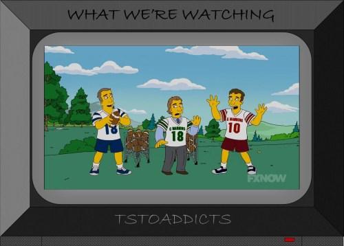 Eli and Peyton Manning Simpsons
