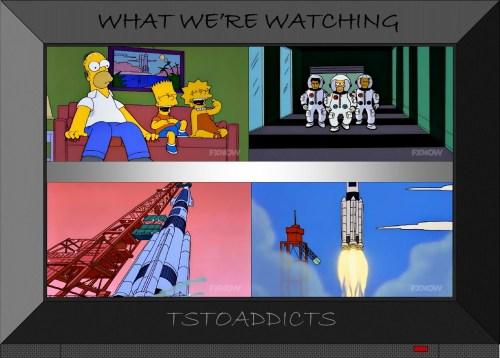 NASA Shuttle Launch Deep Space Homer Simpsons