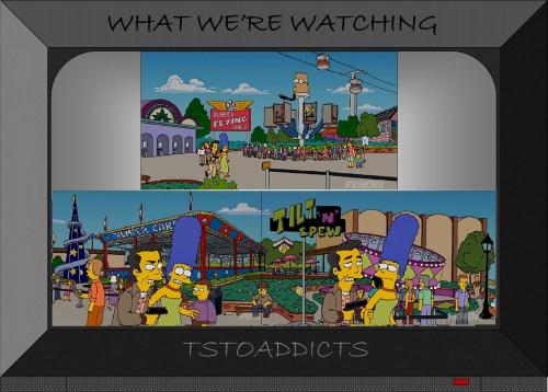 Plaster Mountain Theme Park Dilbert's Flying Cubicle Tilt N Spew Simpsons