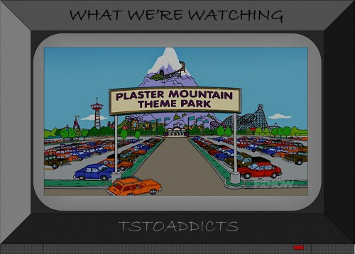 Plaster Mountain Theme Park Simpsons