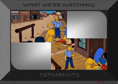 Hitching Post & Wooden Sidewalk Simpsons