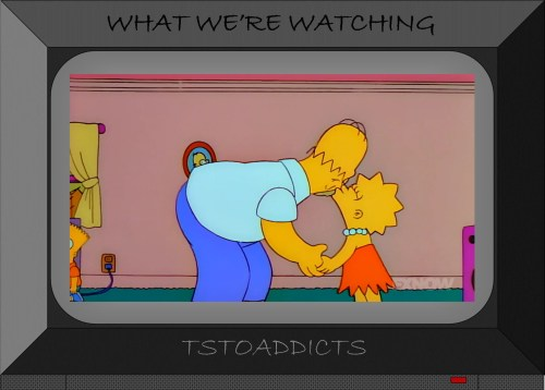 Daddy Daughter Love Homer and Lisa Simpson