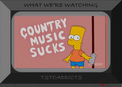 Bart Simpson country music sucks