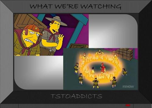 1970s Radioactive Man TV Show Go get em scouts Simpsons