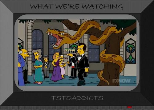Giant Snake in Tree Simpsons