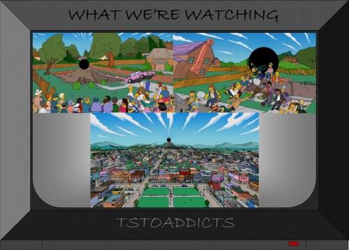 Black Hole sucks up Springfield Simpsons