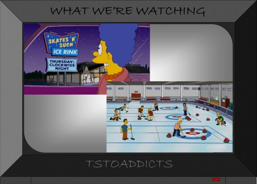 Skates 'N' Such Ice Rink Curling Simpsons
