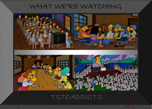 movementarian-indoctrination-theater-circle-of-judgment-low-protein-gruel-mass-marriage-altar-simpsons