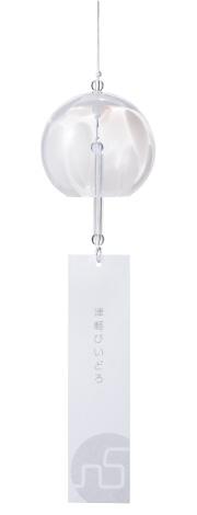 津軽びいどろ風鈴 彩[7月]ピックアップアイテム   ハンドメイドガラスの伝統工蕓品「津軽びいどろ」