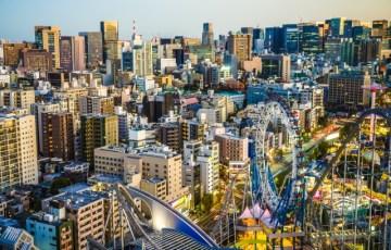 上空から見たサンダードルフィン(東京ドームシティ)