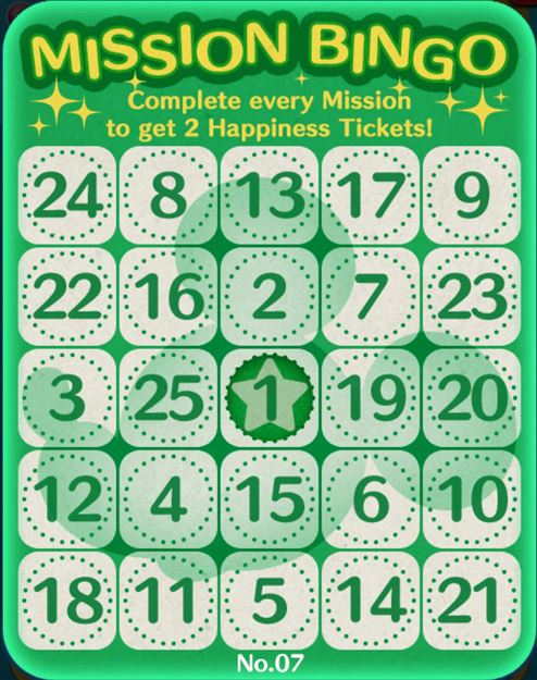 Tsum Tsum Bingo 2 : bingo, Mobile, Bingo, Missions, Central