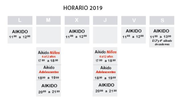 horario aikido