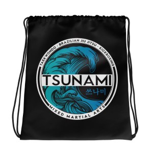 Tsunami black Drawstring bag