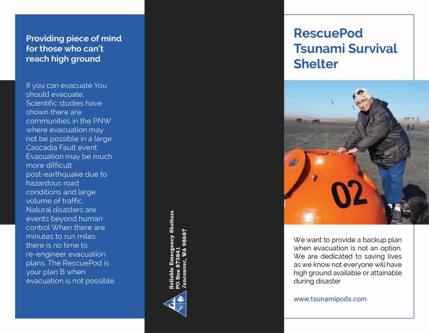 RescuePod Tsunami Survival Shelter