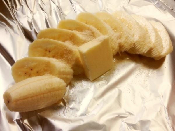 BBQ バナナのホイル焼き(焼バナナ)
