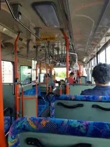 稚内のバスの中