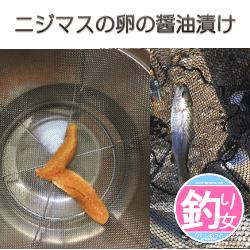 ニジマスの卵の醤油漬け(イクラ)