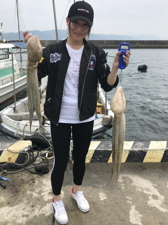 2019-7-27-マダコ2.1kg・1.5kg
