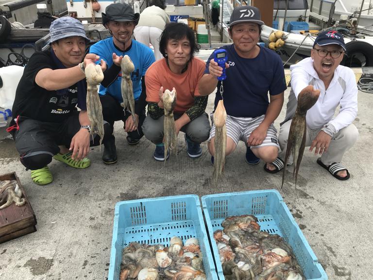 2019-8-24-マダコ1.2kg含む船中41杯