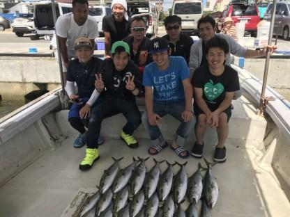 2019-9-16-メジロ船中8匹ほかサワラ1匹の釣果