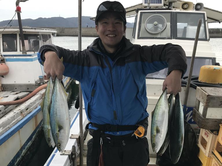 2020-1-25-ハマチ5匹の釣果