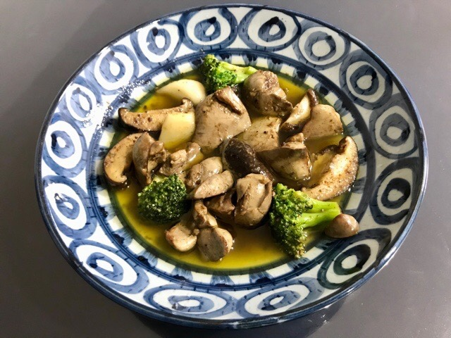 鶏肝のオイル煮