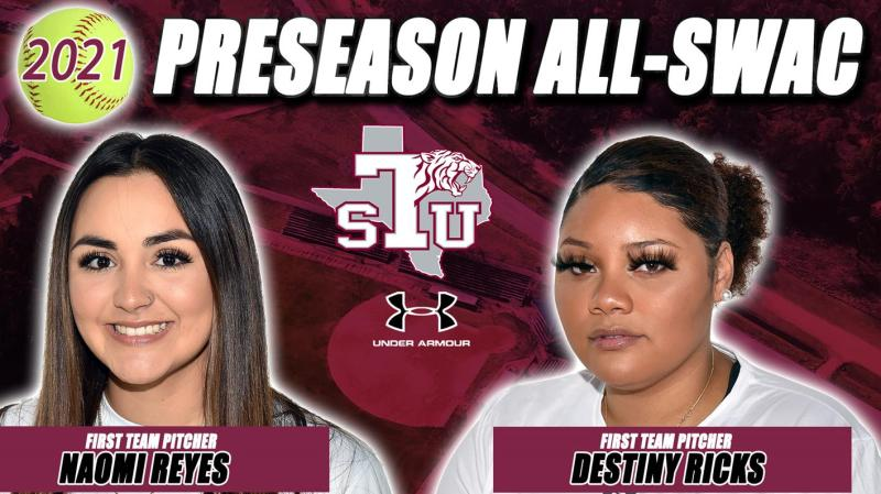 Reyes, Ricks Receive All-SWAC 1st Team Preseason Honors, Softball Picked 2nd In The West
