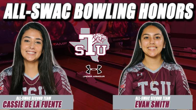 De La Fuente, Smith Named To All-SWAC Bowling 2nd Team