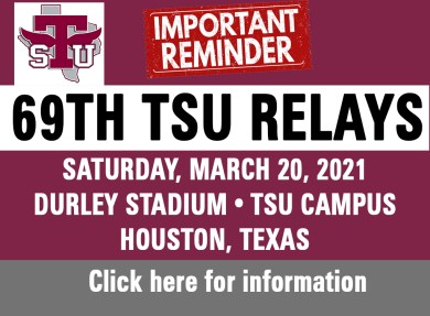 69th TSU Relays Kicks Off Saturday Morning