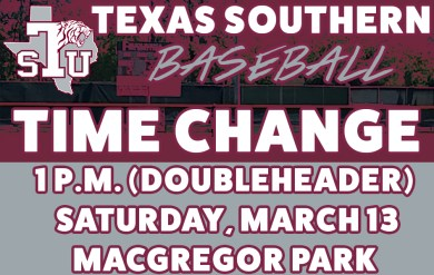 TSU Baseball Adjusts Schedule, Will Play Saturday Doubleheader