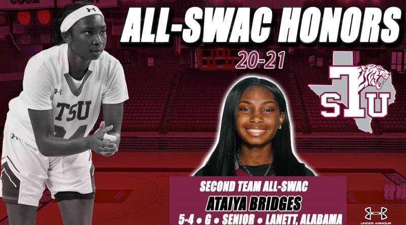 Bridges Named 2020-21 Second Team All-SWAC