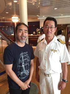 船長小久江さんと