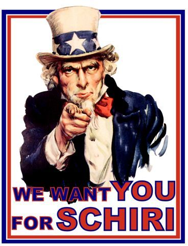 We want you for Schiri