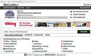 Hilfe durch Online-Einkäufe