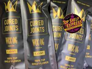 West Coast Cure Cured Joint – WCC OG : Joint 1g 23.5%THC .04%CBD