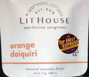 LitHouse – ORANGE DAIQUIRI : All Sun Flower 3.5g Bag