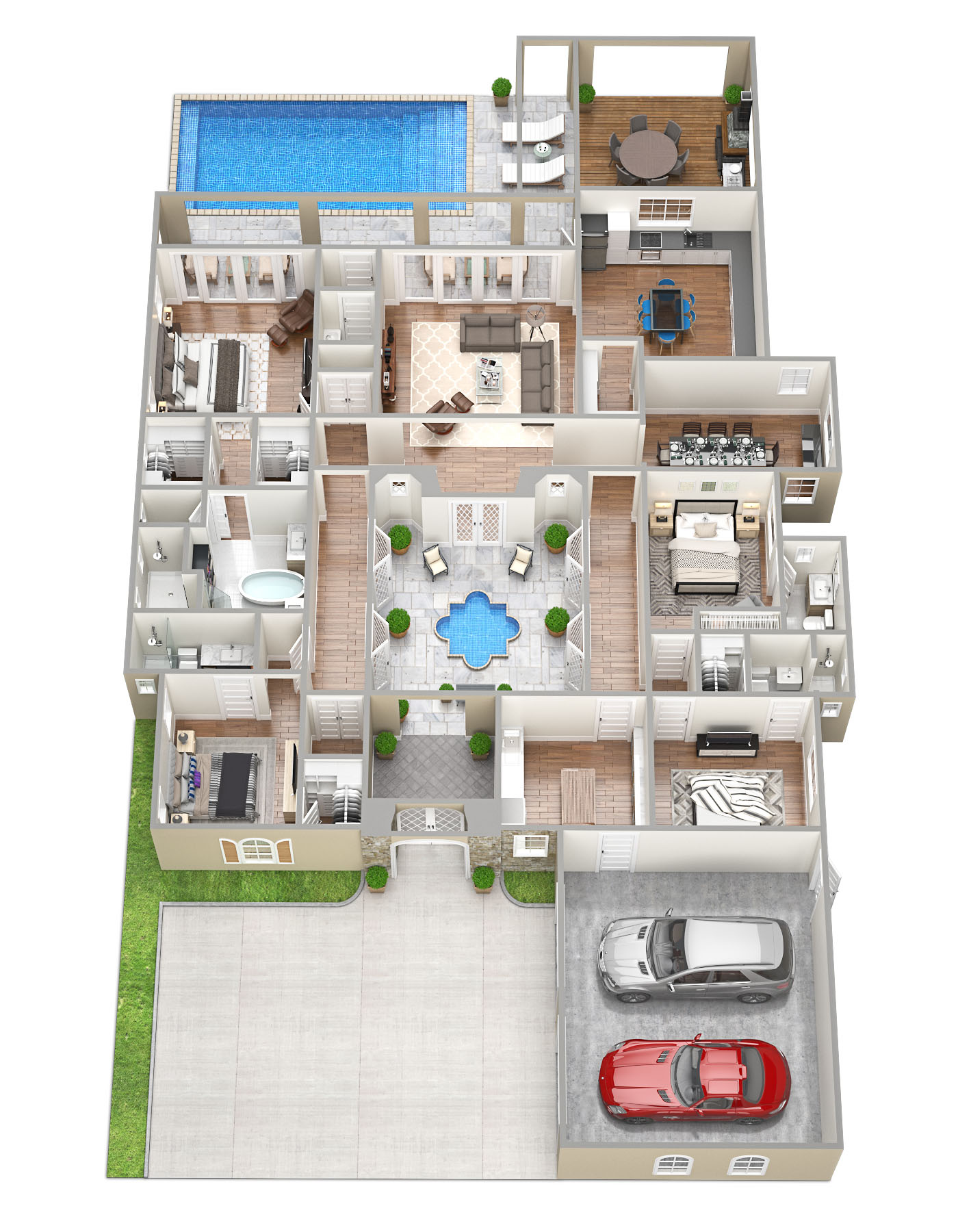 3D Floorplans for the Sawyer Sound Property  Tsymbals Design