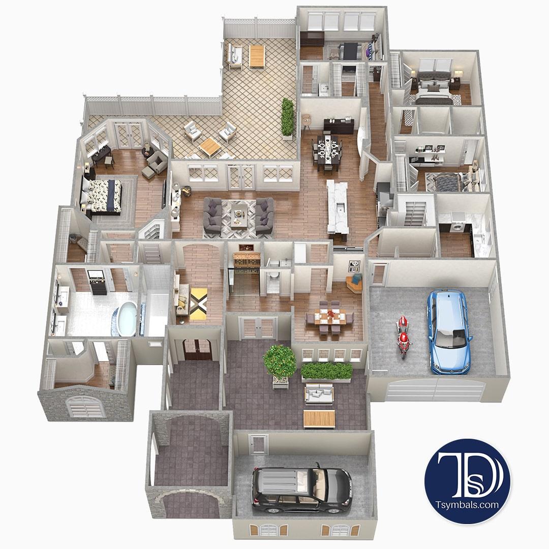 3d Floor Plans Design  Tsymbals Design