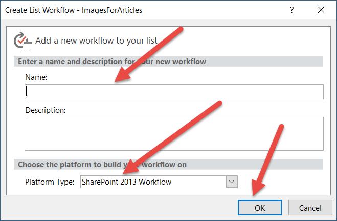 Create list workflow