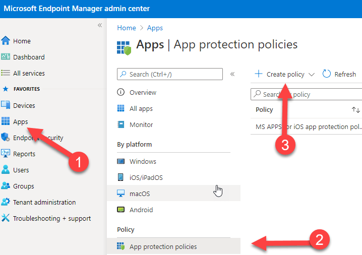 App protection policy